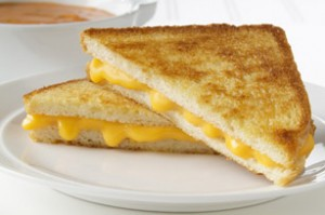 Grilled cheese sandwich.  Mmm, yummy...