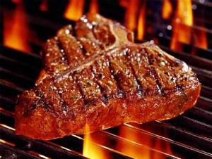A succulent piece of steak.